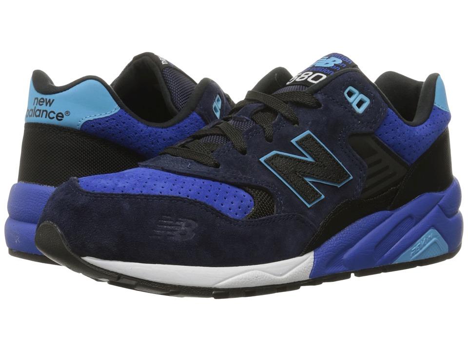 New Balance Classics - MRT580 (Grey/Blue Pig Suede) Men's Classic Shoes