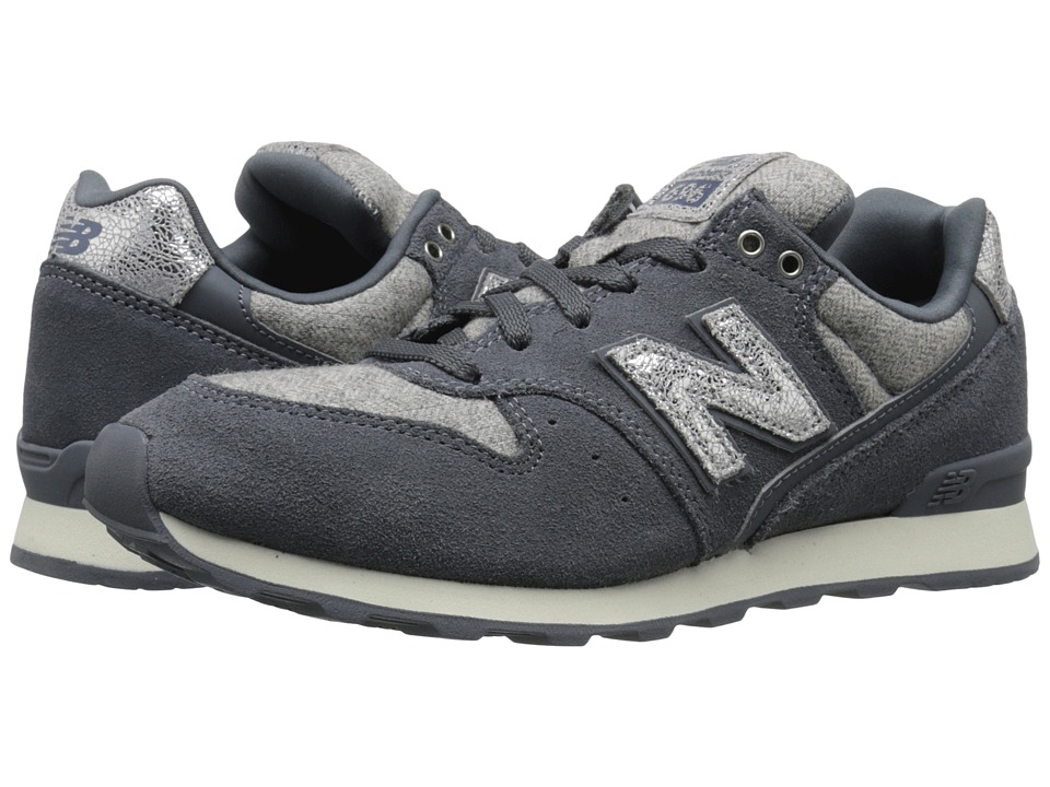 New Balance Classics WL696 (Dark Grey/Silver Suede/Textile/Leather) Women
