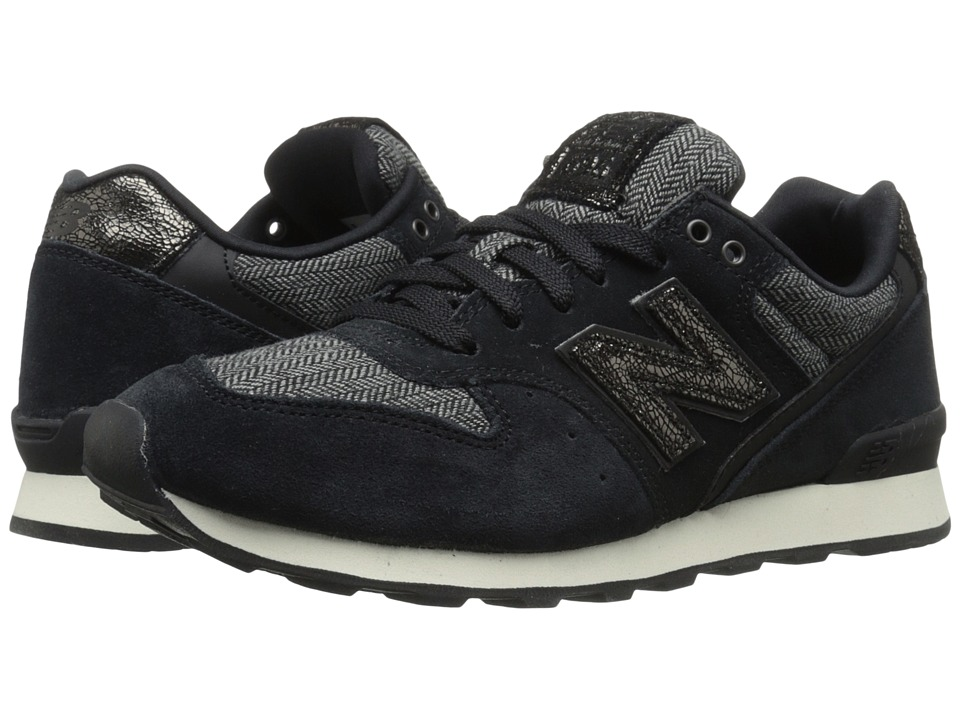 New Balance Classics - WL696 (Black Suede/Textile/Leather) Women's Classic Shoes