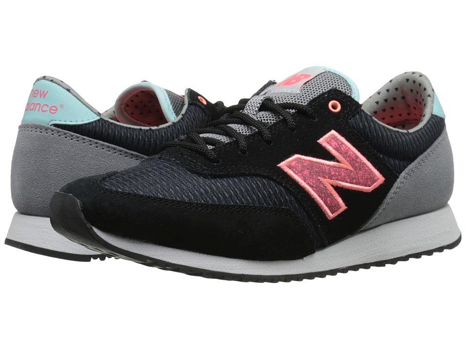 New Balance Classics - CW620 (Black/Pink Suede/Mesh) Women's Classic Shoes