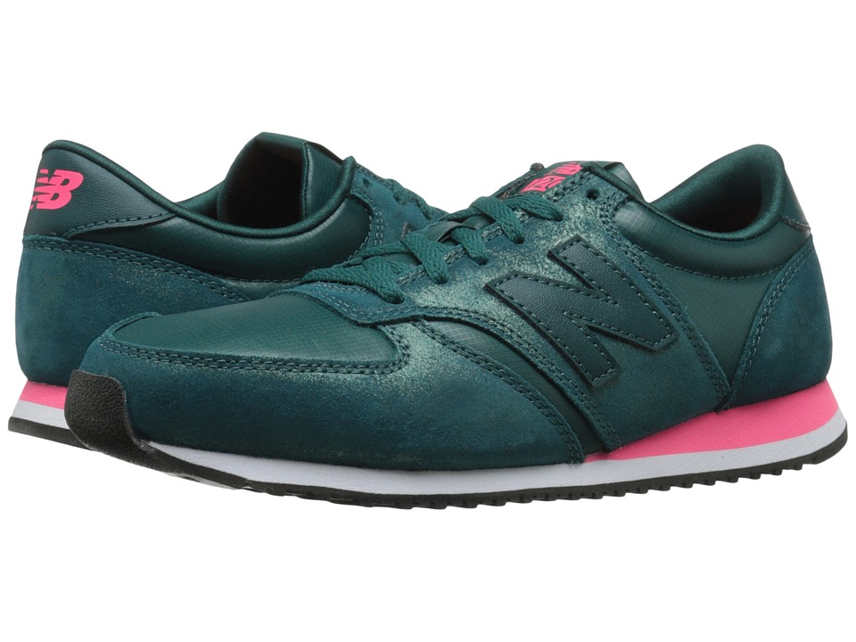 New Balance Classics WL420 (Dark Teal Leather/Textile) Women
