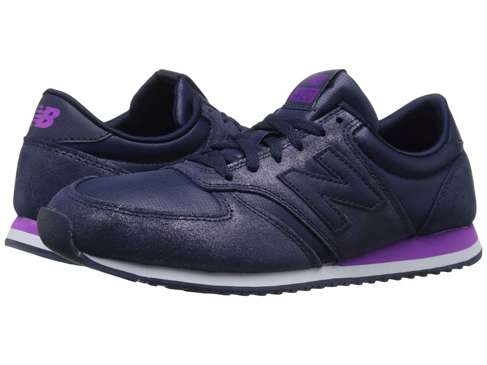 New Balance Classics - WL420 (Dark Purple Leather/Textile) Women's Classic Shoes