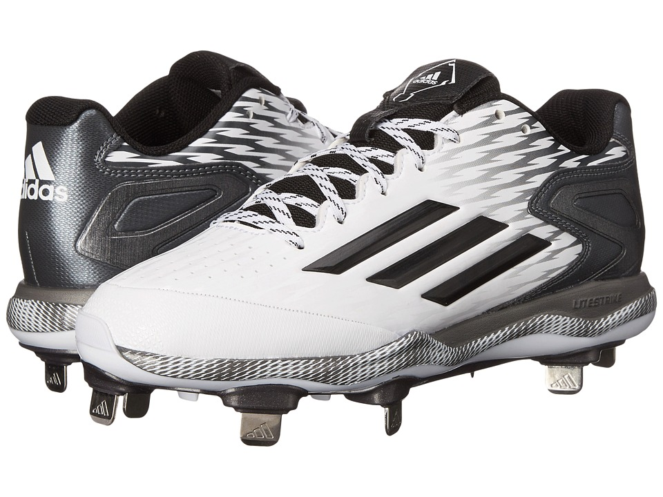 adidas - PowerAlley 3 (White/Black/Carbon Metallic) Women's Shoes