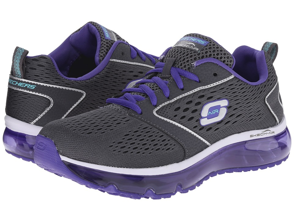 SKECHERS - Air Supreme (Charcoal/Purple) Women