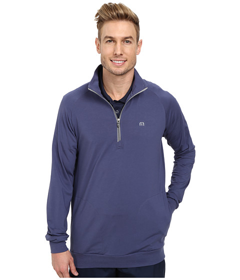 TravisMathew - Strangelove Jacket (Indigo) Men's Sweatshirt