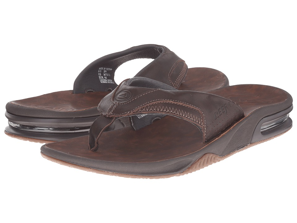 Reef - Fanning Ultimate (Dark Brown/Dark Brown) Men's Sandals