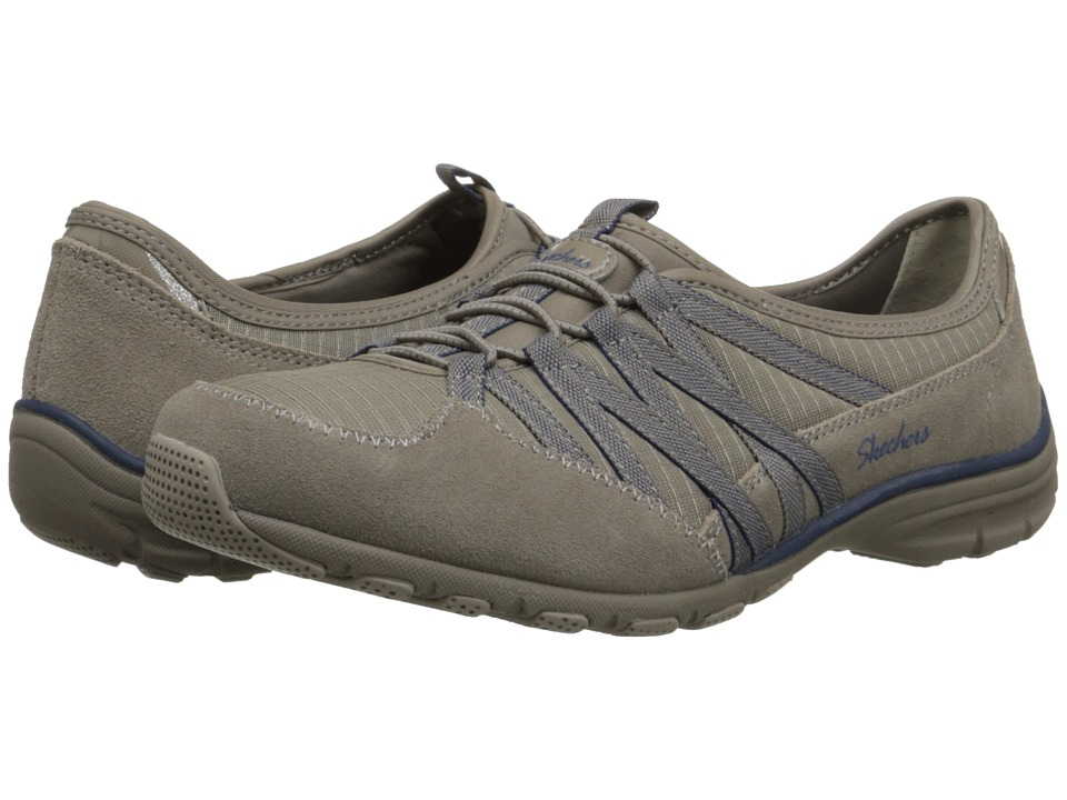 SKECHERS - Conversations - Holding Aces (Stone/Navy) Women's Lace up casual Shoes