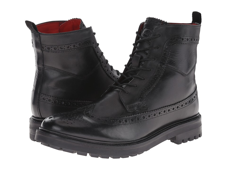 Base London - Locke (Black) Men's Lace-up Boots