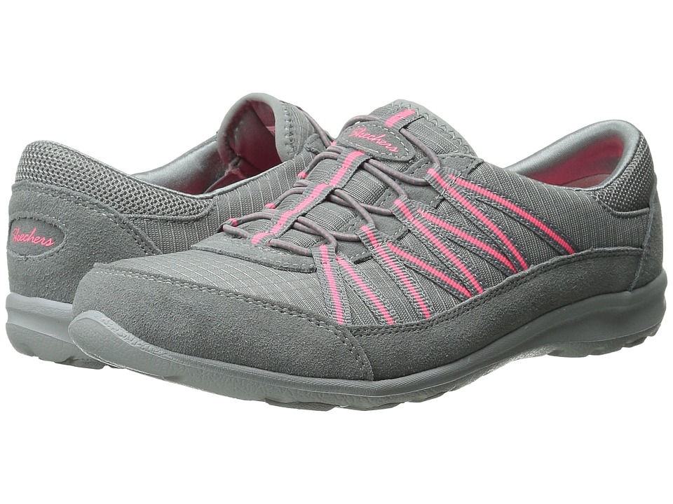 SKECHERS - Dreamchaser - Romantic Trail (Grey/Pink) Women's Lace up casual Shoes