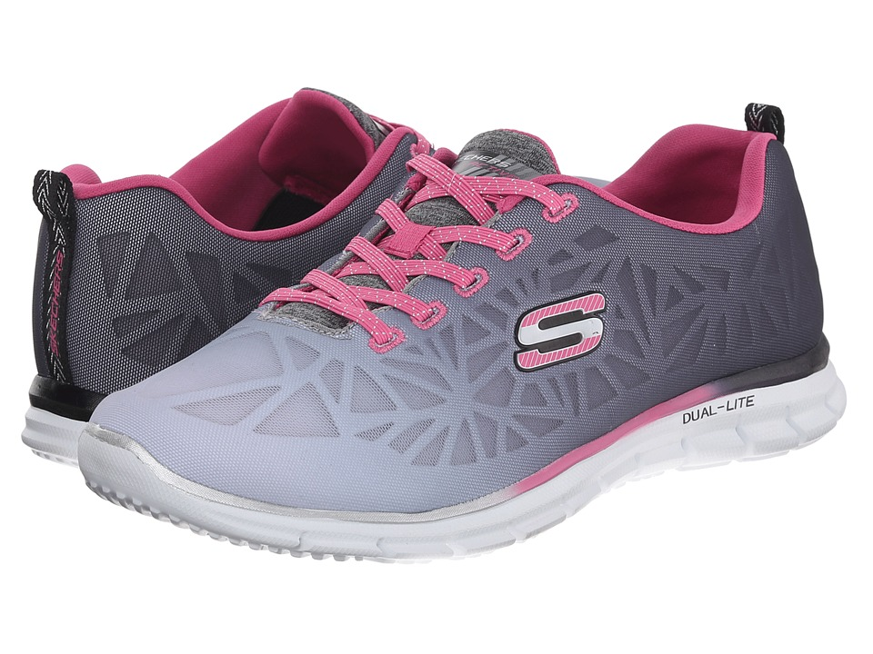 SKECHERS - Glider - Zealous (Black/Hot Pink) Women's Shoes
