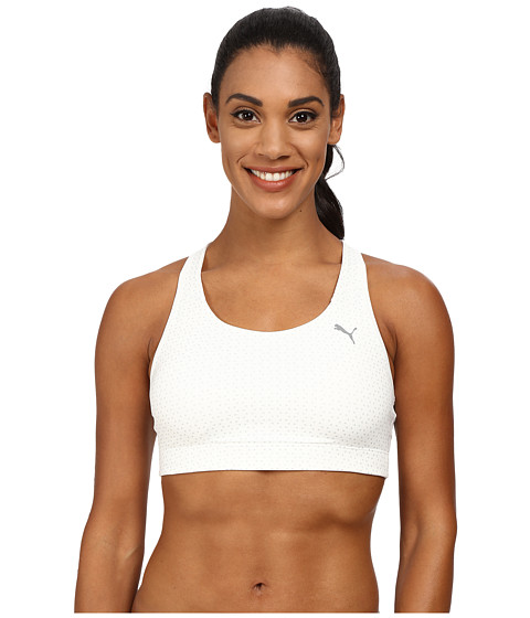 PUMA - WT Essential Graphic Bra (Star White/Metallic Print) Women's Bra