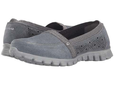 SKECHERS - EZ Flex 2 - Bed-Of-Roses (Grey) Women's Slip on Shoes
