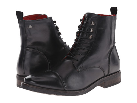Base London - Clapham (Black) Men's Lace-up Boots