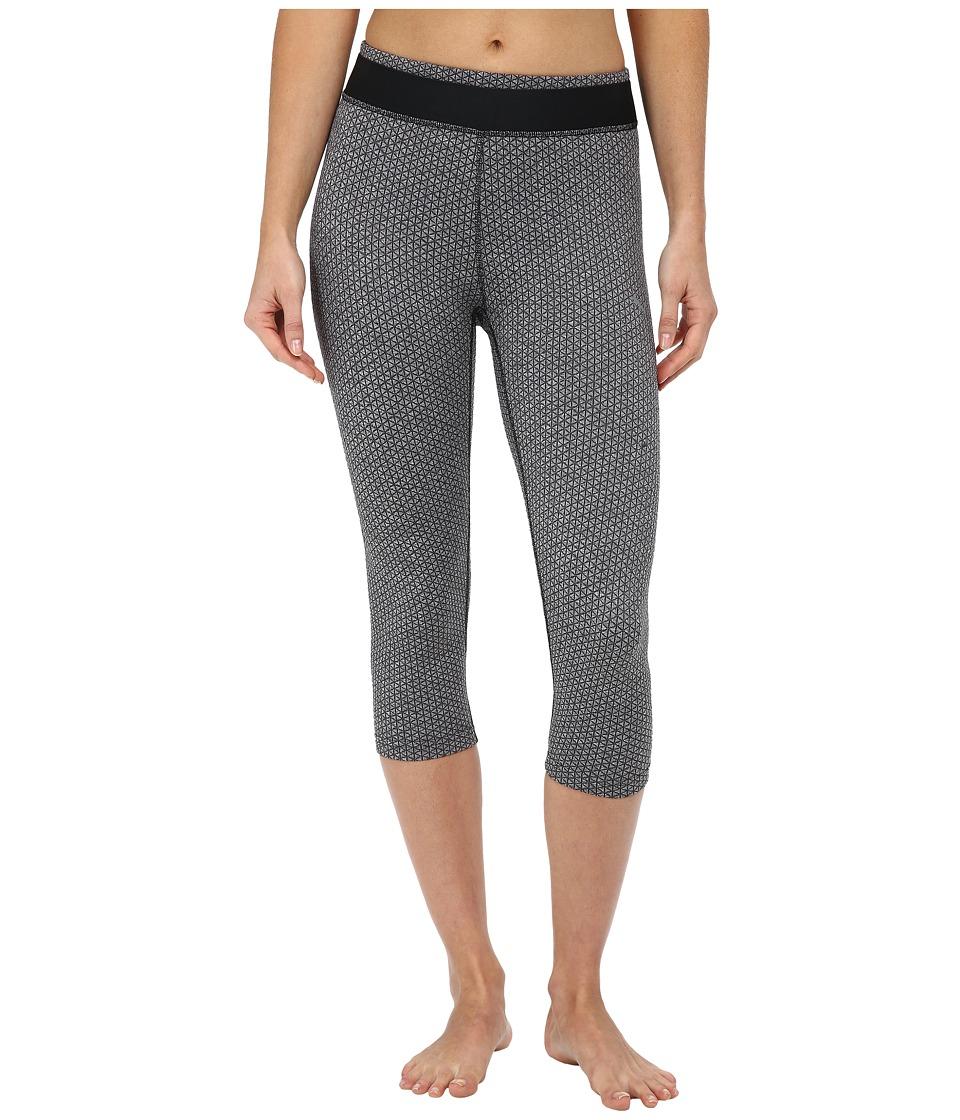 PUMA - WT All Eyes On Me 3/4 Tight (Black/Jacquard) Women's Dress Pants plus size,  plus size fashion plus size appare