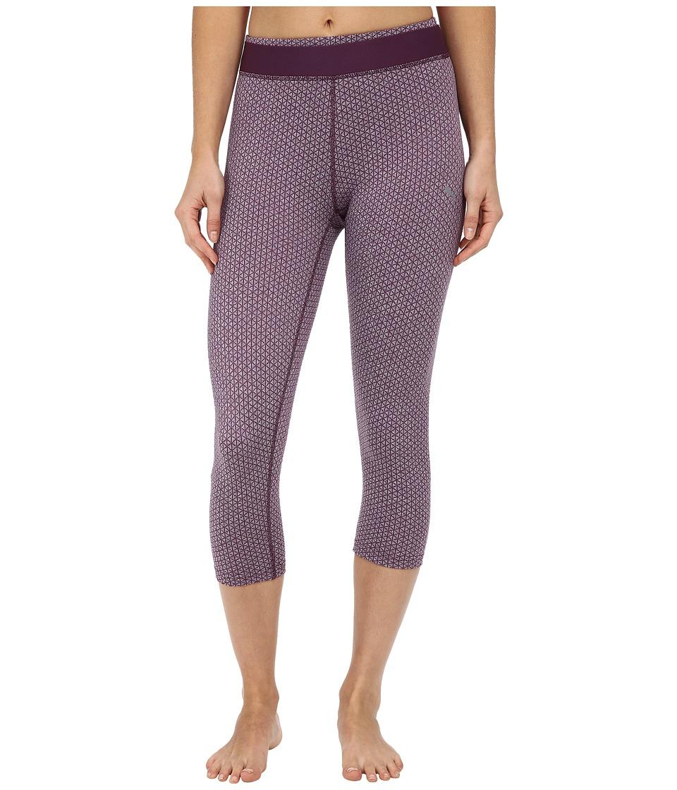 PUMA - WT All Eyes On Me 3/4 Tight (Italian Plum/Jacquard) Women's Dress Pants plus size,  plus size fashion plus size appare