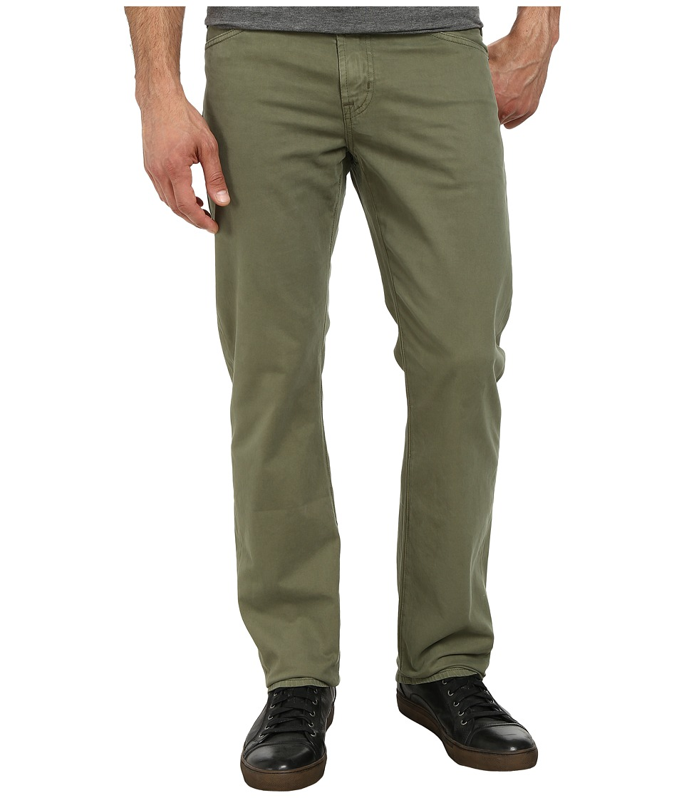 AG Adriano Goldschmied - Prot g Straight Leg Sueded Stretch Twill in Dry Leaf (Dry Leaf) Men