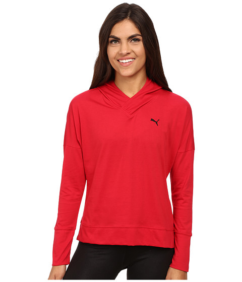 PUMA - Lightweight Pullover Top (Lipstick Red) Women