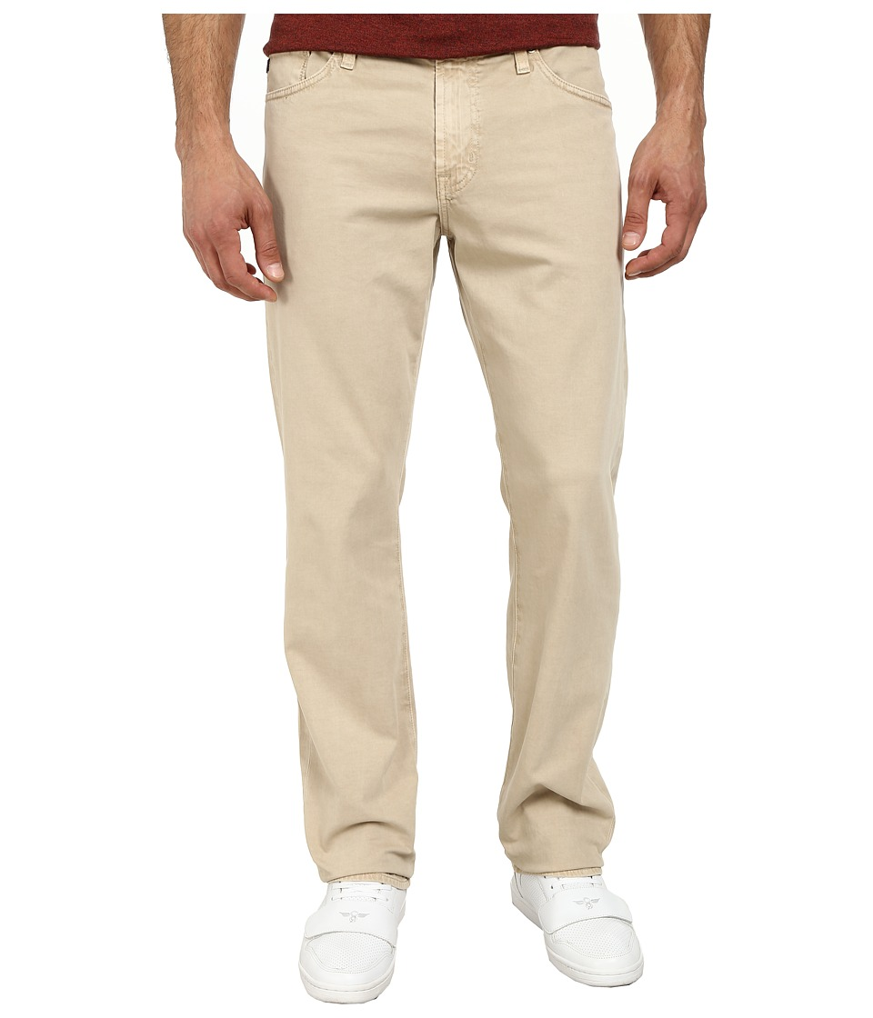 AG Adriano Goldschmied - Graduate Tailored Leg Sueded Stretch Twill in Sulfur Pale Sand (Sulfur Pale Sand) Men