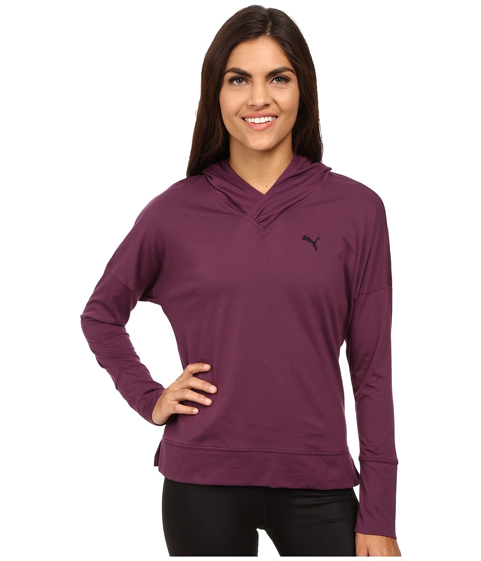 PUMA - Lightweight Pullover Top (Italian Plum) Women's Long Sleeve Pullover