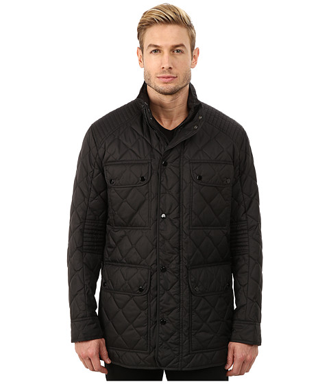 Marc New York by Andrew Marc - Essex Poly Fill Quilted Four-Pocket Jacket (Black) Men's Coat