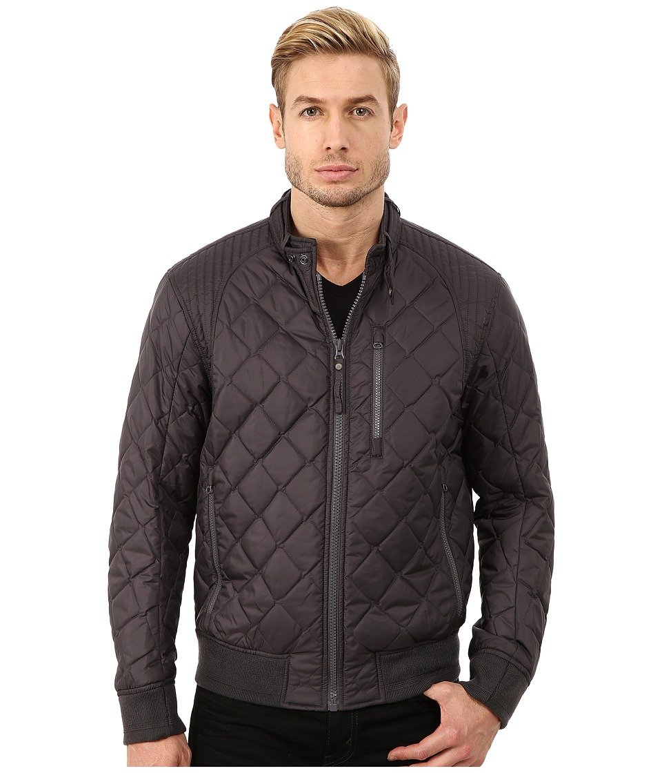 Marc New York by Andrew Marc - Delancey Poly Fill Quilted Bomber (Steel) Men