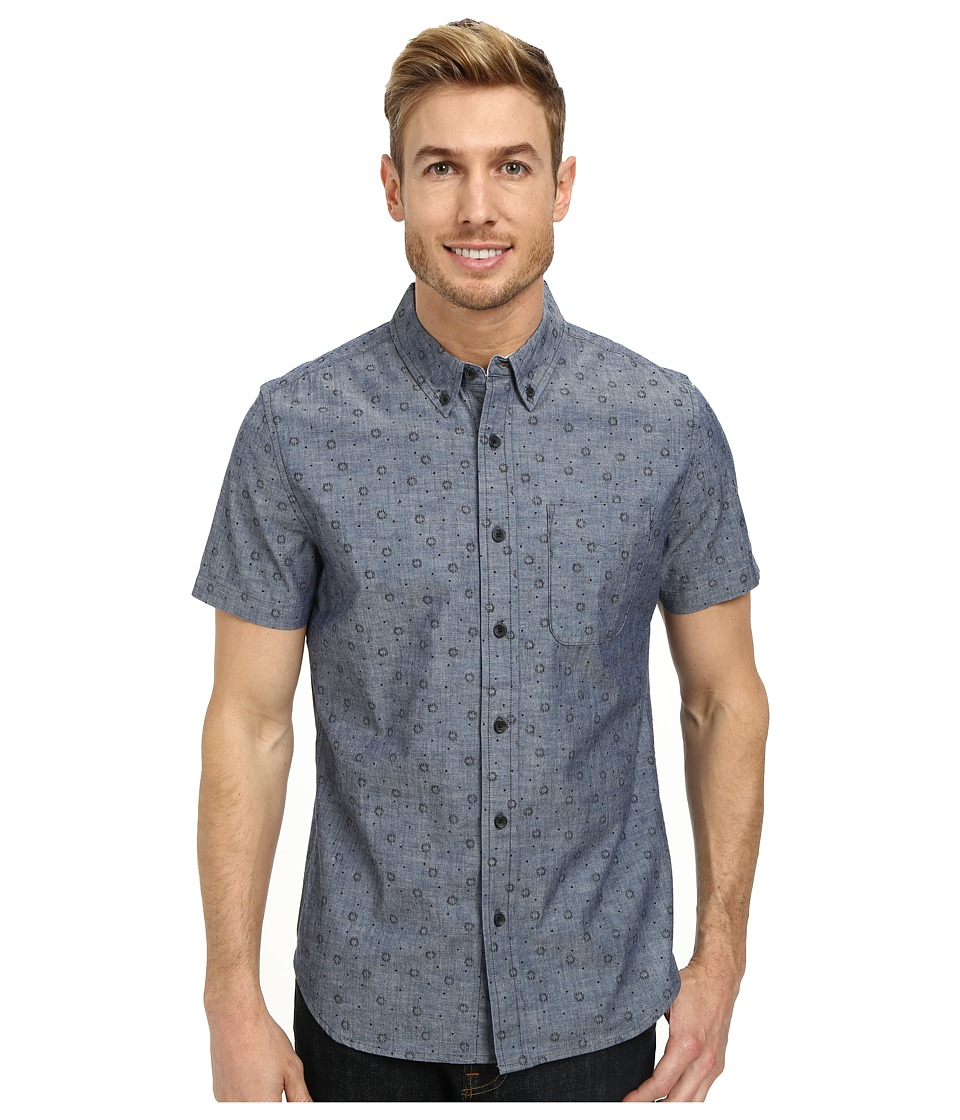 Image of AG Adriano Goldschmied - Aviator Shirt (Nexus Print) Men's Short Sleeve Button Up