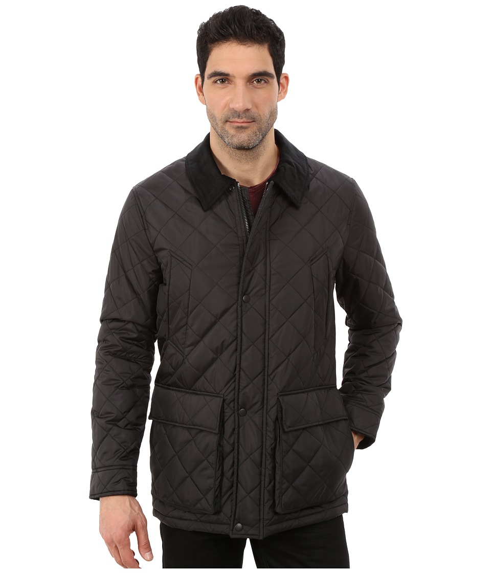 Cole Haan - Quilted Nylon Barn Jacket (Black) Men's Jacket