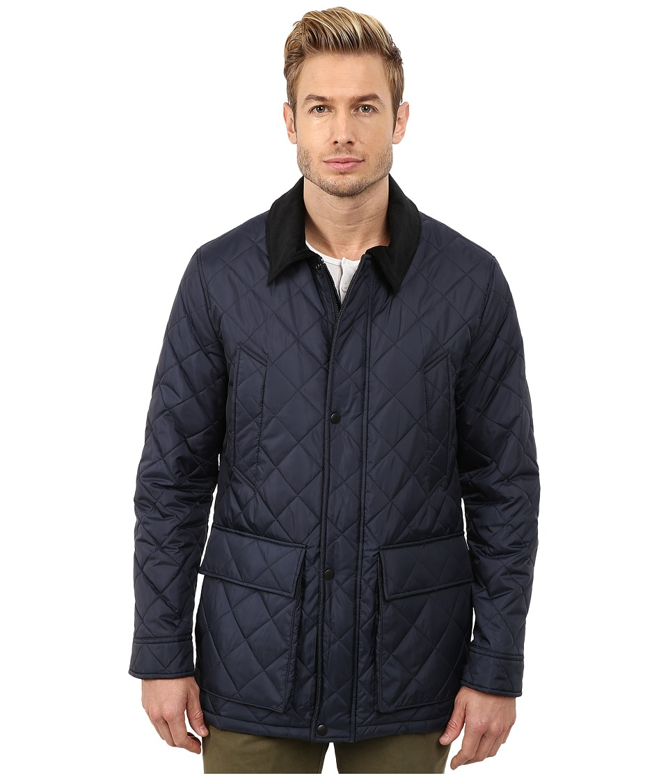 Cole Haan - Quilted Nylon Barn Jacket (Navy) Men's Jacket