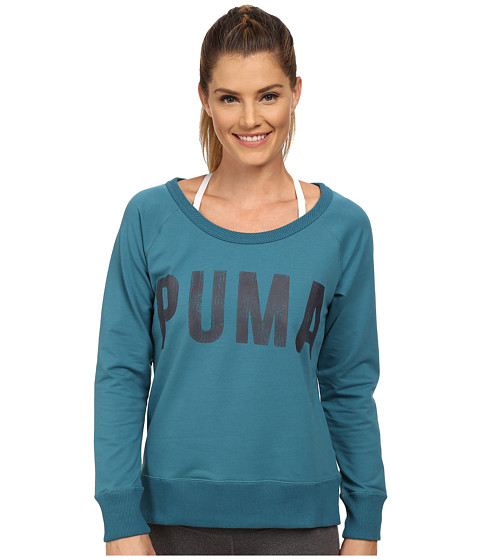 PUMA - Sweat Crew (Colonial Blue) Women's Long Sleeve Pullover