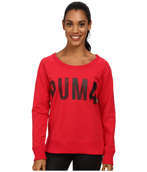 PUMA - Sweat Crew (Lipstick Red) Women's Long Sleeve Pullover