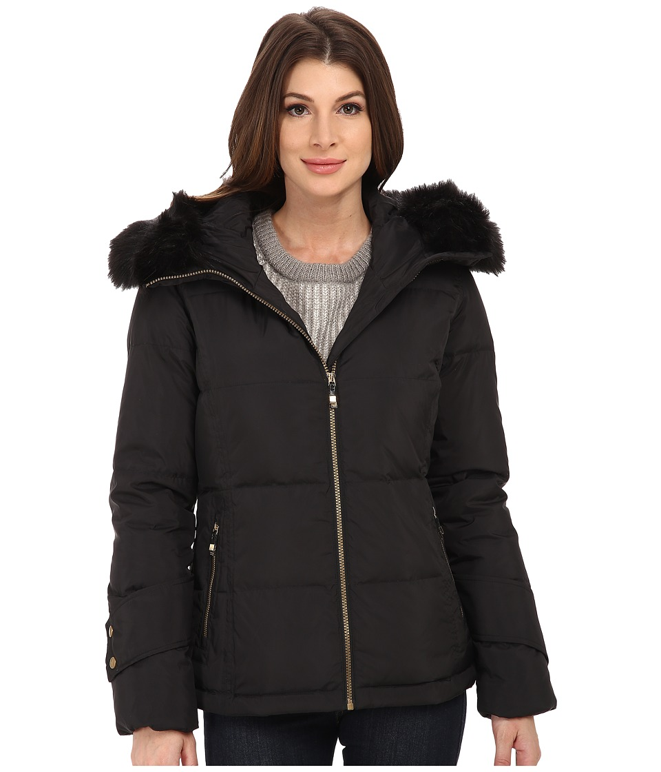 Calvin Klein - Short Down Coat w/ Cuff Detail (Black) Women