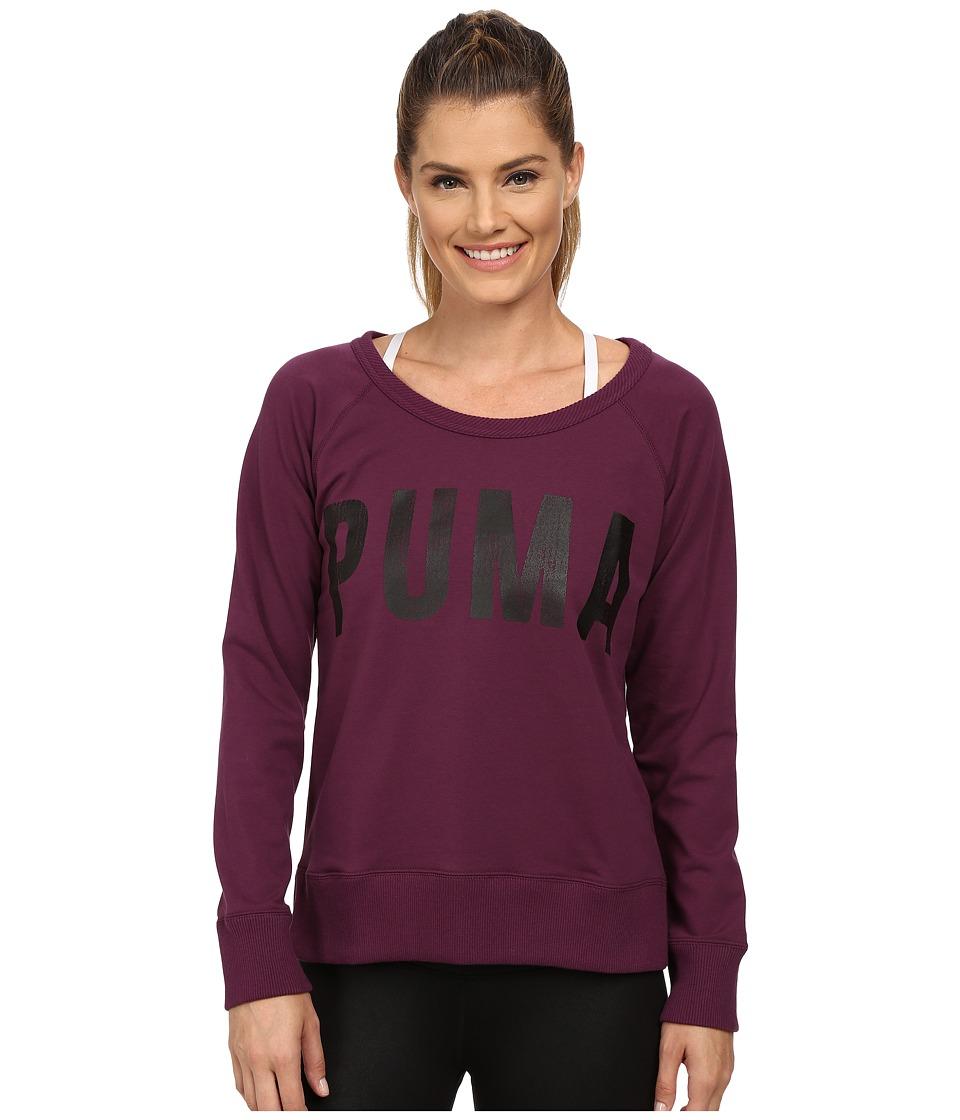 PUMA - Sweat Crew (Italian Plum) Women's Long Sleeve Pullover