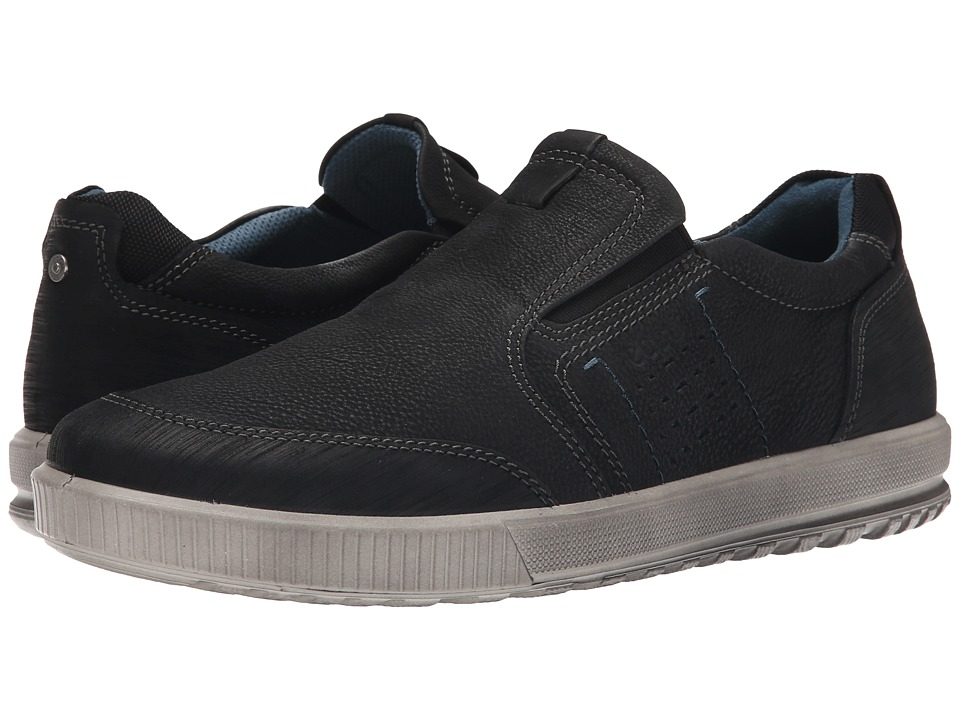 ECCO - Ennio Slip-On (Black/Black) Men's Slip on Shoes