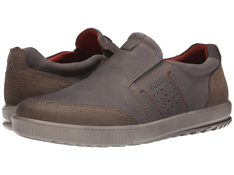 ECCO - Ennio Slip-On (Warm Grey/Warm Grey) Men's Slip on Shoes
