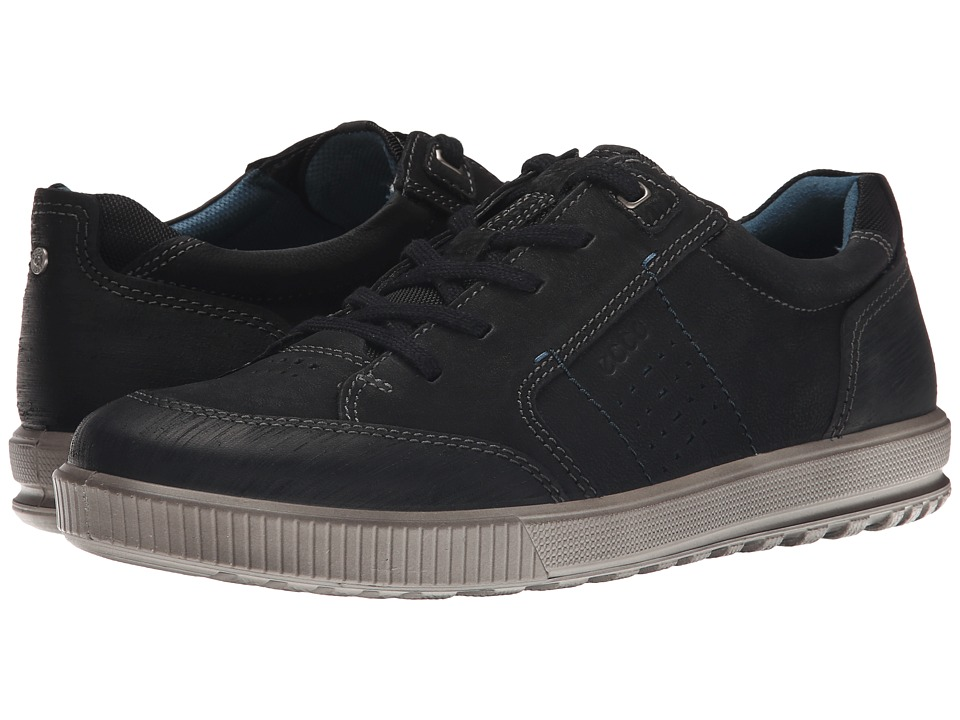 ECCO - Ennio Tie (Black/Black) Men's Lace up casual Shoes