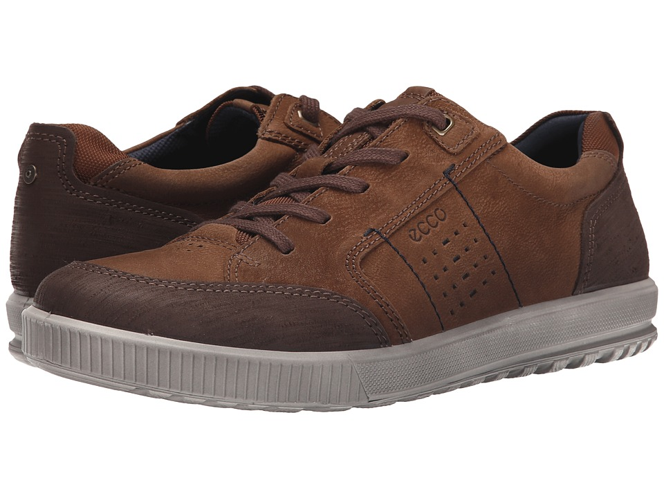 ECCO - Ennio Tie (Coffee/Camel) Men's Lace up casual Shoes
