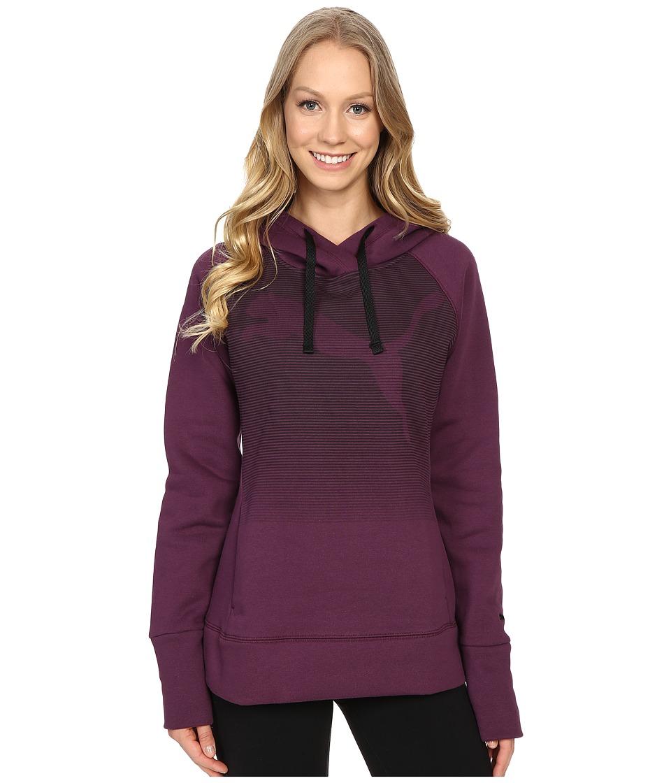 PUMA - Boyfriend Fleece Hoodie (Italian Plum) Women's Sweatshirt