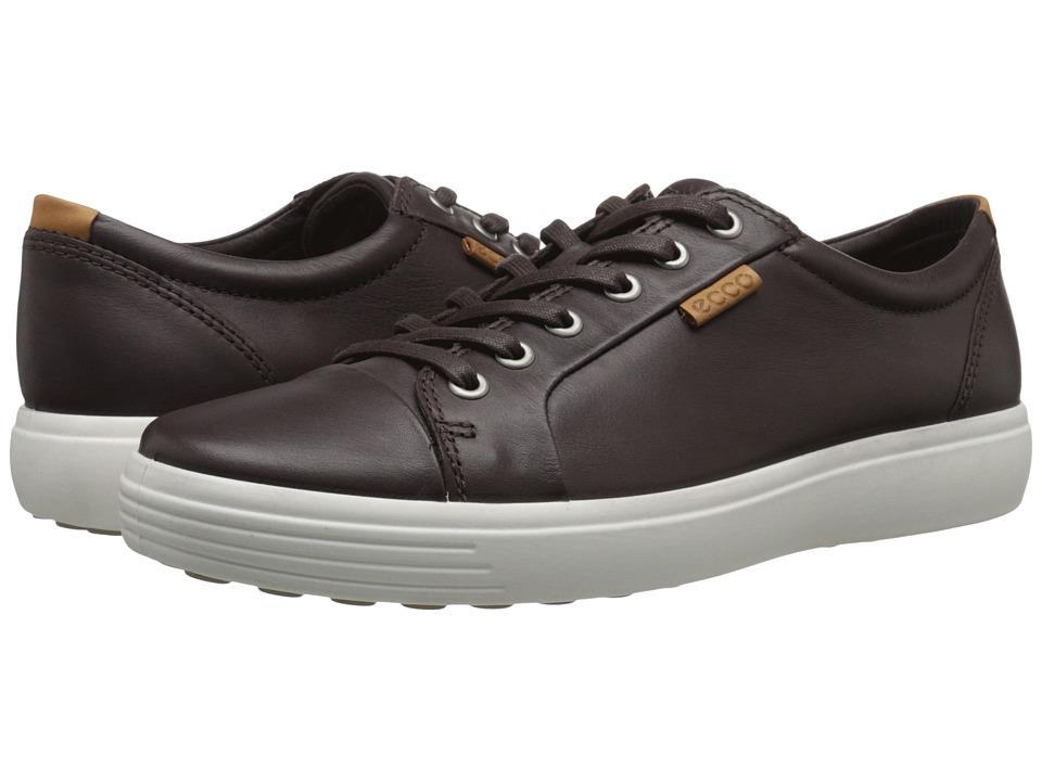 ECCO - Soft VII Sneaker (Mocha) Men's Lace up casual Shoes