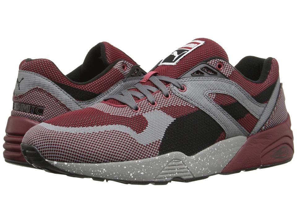 PUMA - R698 Knit Mesh Splatter (Rio Red/Steel Gray) Men's Shoes