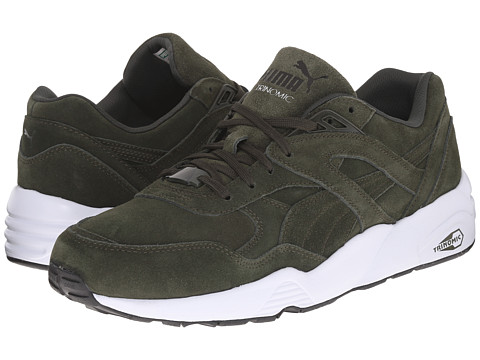 PUMA - R698 Allover Suede (Forest Night/White) Men