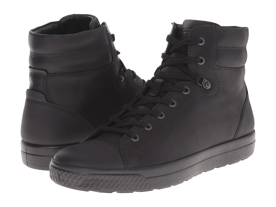 ECCO - Ethan High Top (Black/Black) Men
