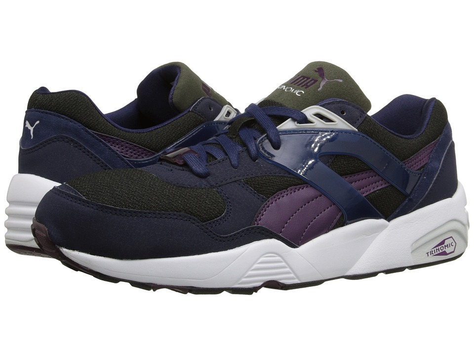 PUMA - R698 Modern Heritage (Peacoat/Forest Night/Italian Plum) Men's Shoes
