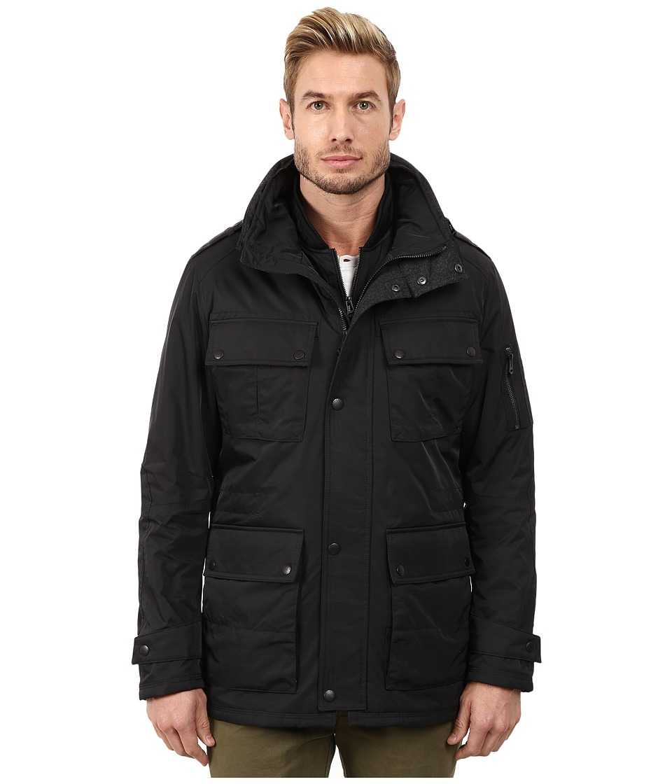 Cole Haan - Classic Topper w/ Knit Bib (Black) Men's Jacket