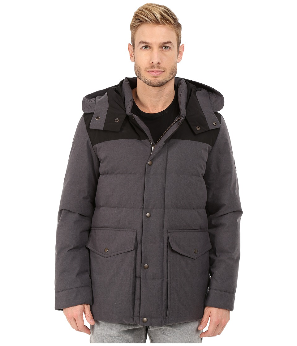 Cole Haan - Brushed Flannel Parka (Charcoal) Men