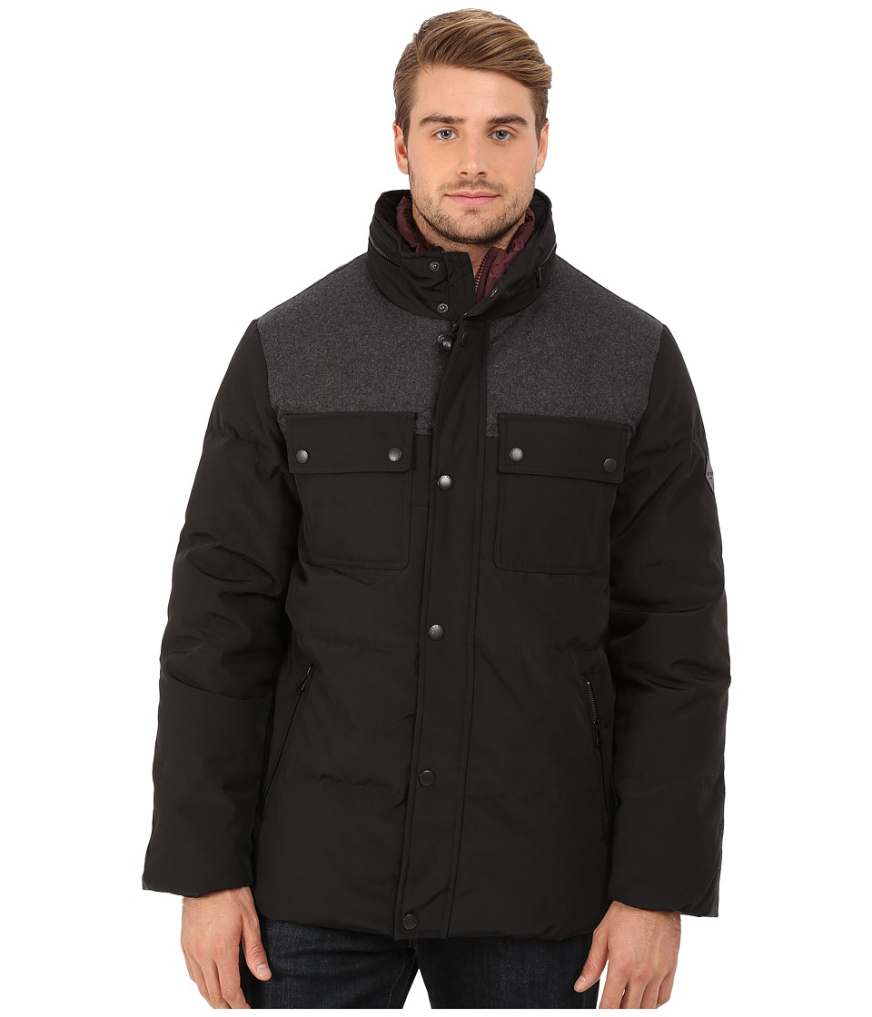 Cole Haan - Down Jacket w/ Patch Pockets (Black) Men's Jacket