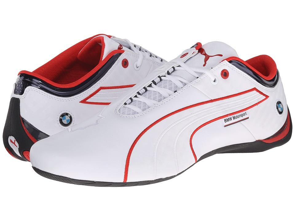 PUMA - BMW MS Future Cat M1 (White/BMW Team Blue/High Risk Red) Men