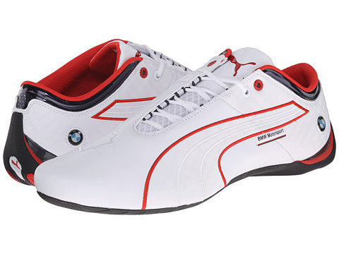 PUMA - BMW MS Future Cat M1 (White/BMW Team Blue/High Risk Red) Men's Shoes