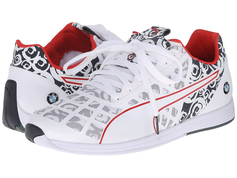 PUMA - BMW MS evoSPEED 1.4 Lo Camo (White/BMW Team Blue/High Risk Red) Men