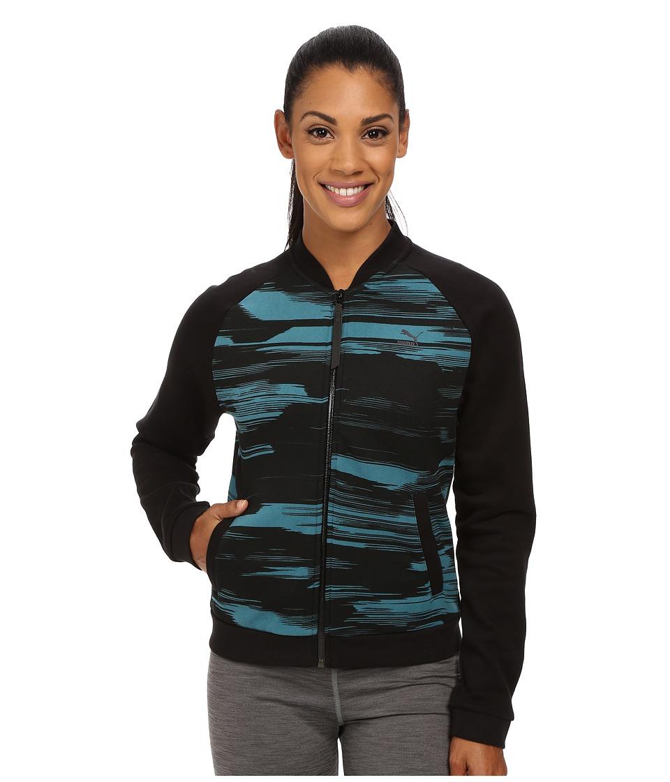 PUMA - Blurred Bomber Sweat Jacket (Colonial Blue) Women's Coat