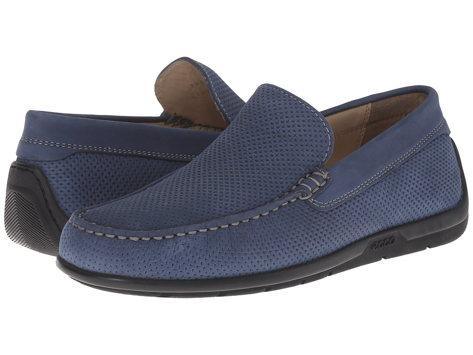 ECCO - Classic Moc 2.0 Drive (Denim Blue) Men's Slip on Shoes